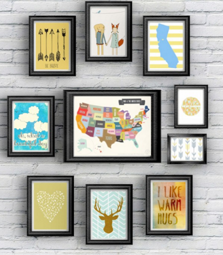 Bedroom Art Printables: Decorating A Travel Themed Child's Bedroom