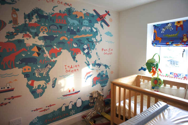 Decorating A Travel Themed Child S Bedroom