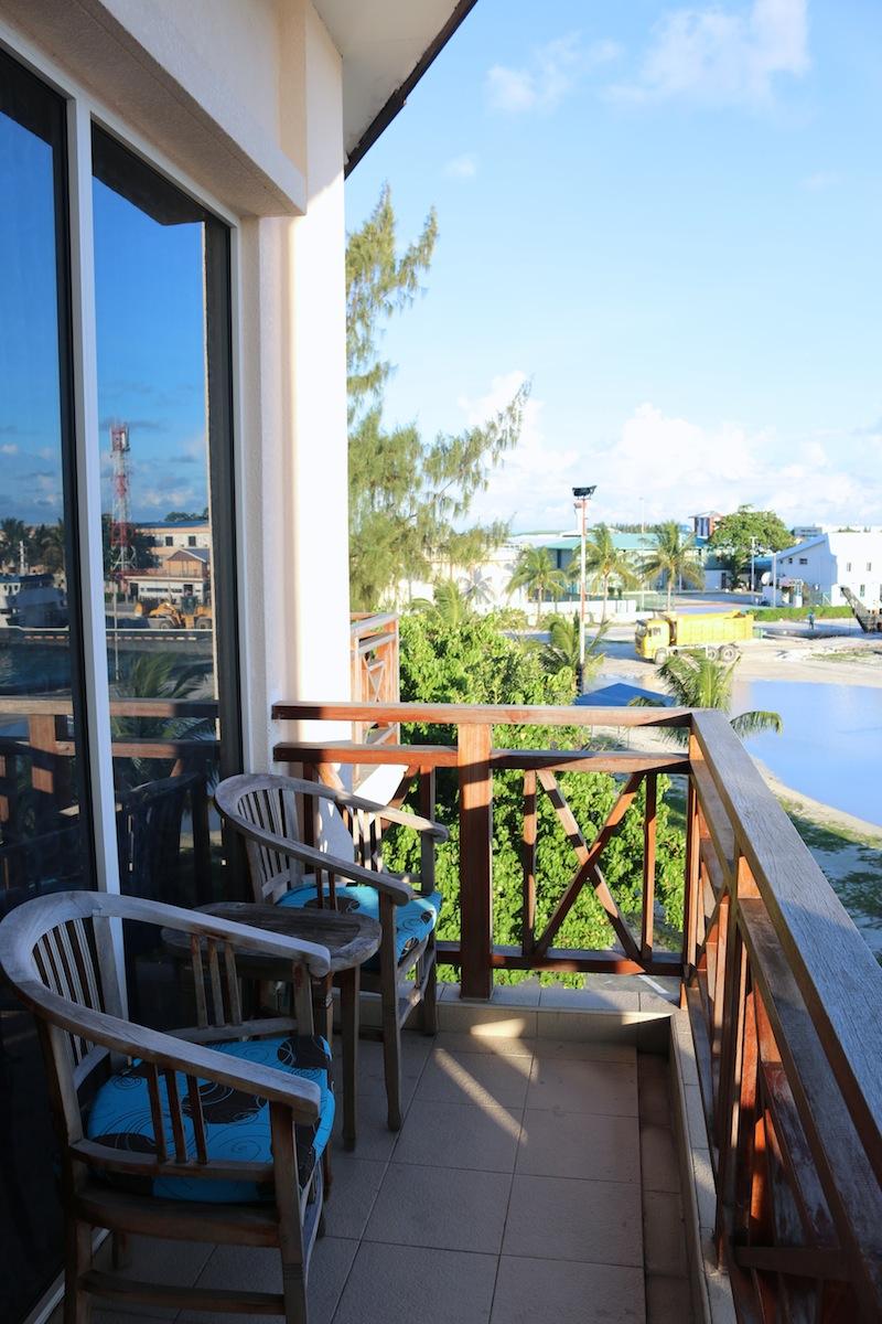 Balcony at Hulhule Island Hotel