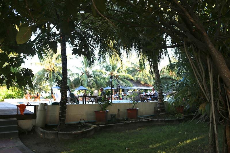 Hulhule Island Hotel Pool and Gardens