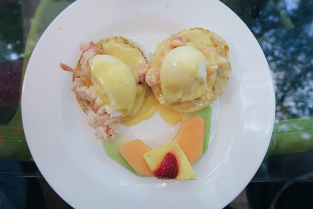 Lobster Benedict at Blue Heaven