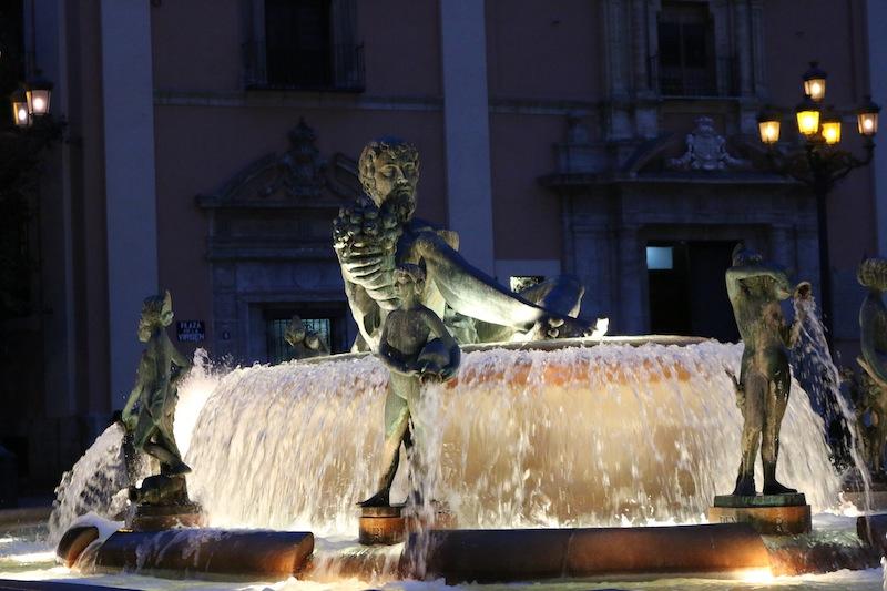 Neptune statue in Valencia