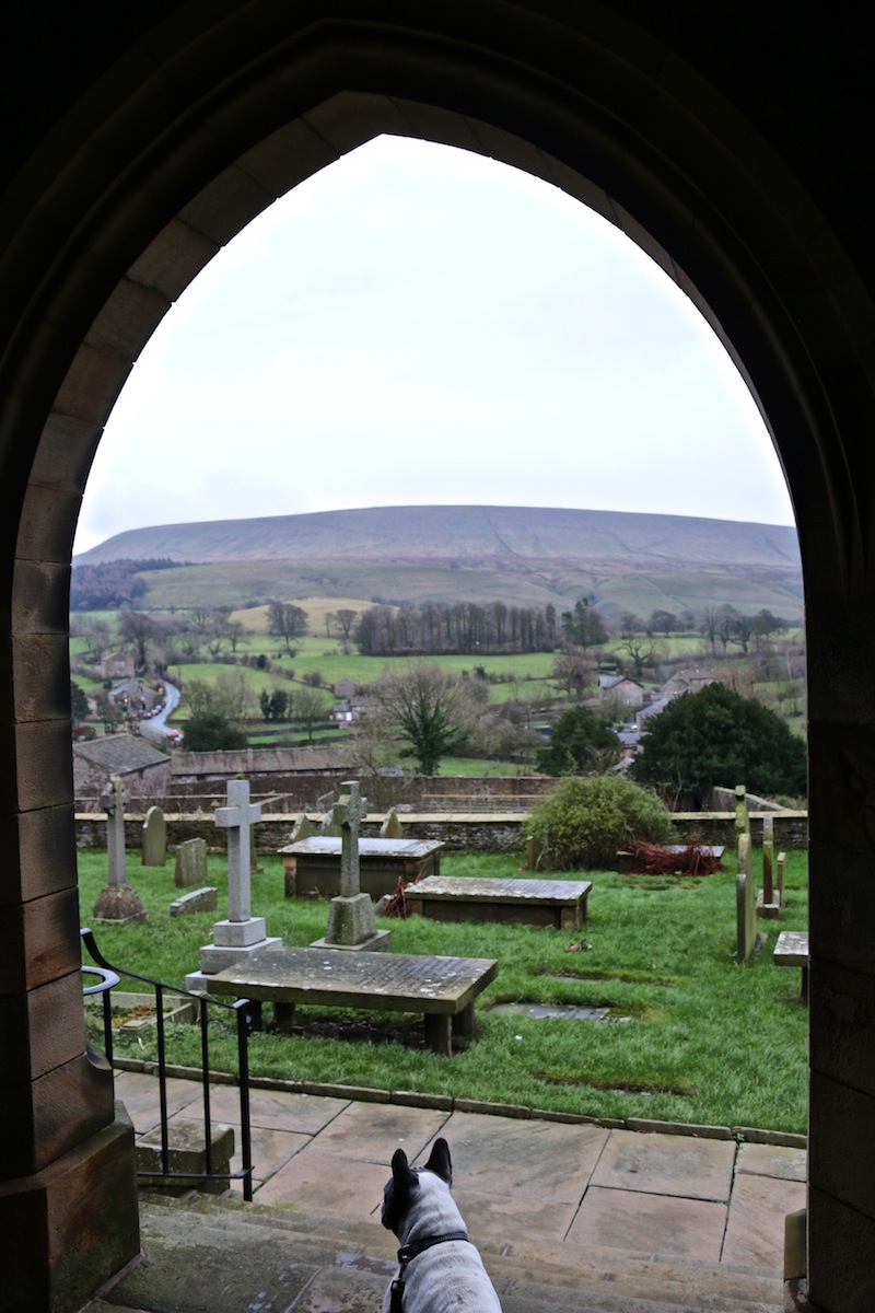 Pendle Hill from church in Downham