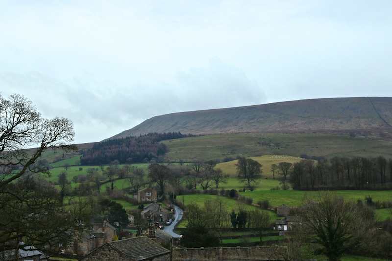 Pendle Hill viewed from Downham