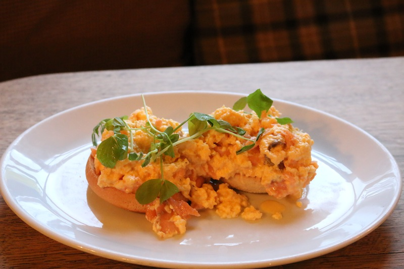 Salmon and scrambled eggs at Assheton Arms Hotel Review