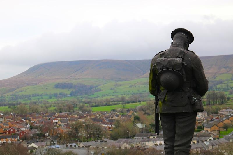 Soldier monument near Clitheroe Castle