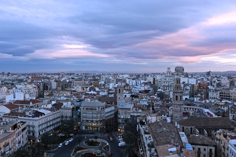 Sunset over Valencia