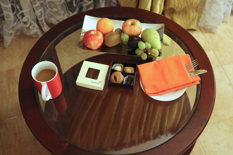 Tea and chocolates at Hulhule Island Hotel