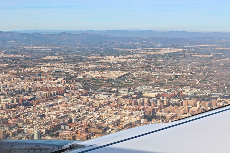 Valencia from a plane