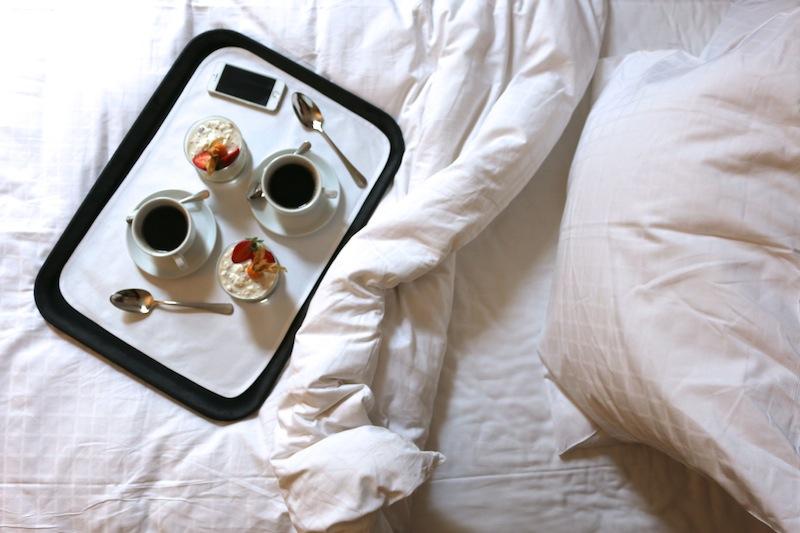 Corinthia Hotel Buapest Breakfast in Bed