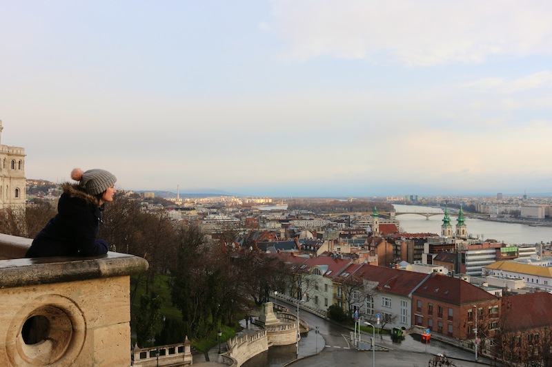 Looking out from Fishermen's Bastion in Budapest