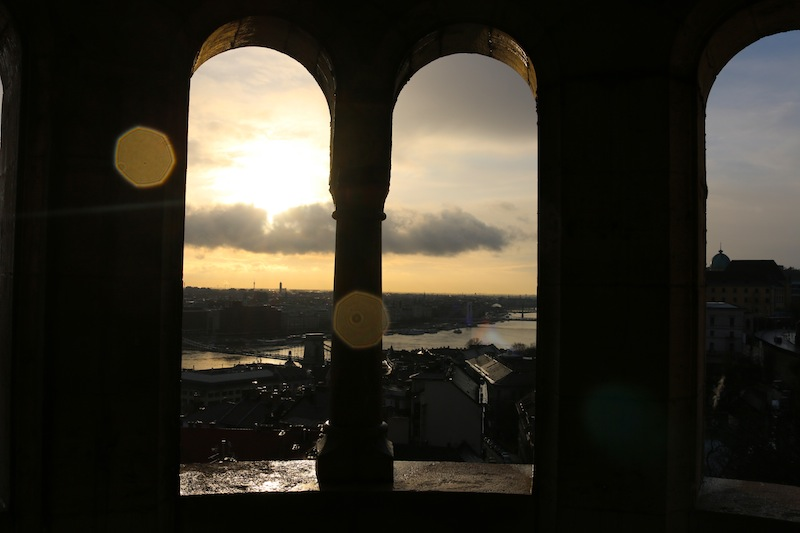 Sunrise from Fishermen's Bastion in Budapest