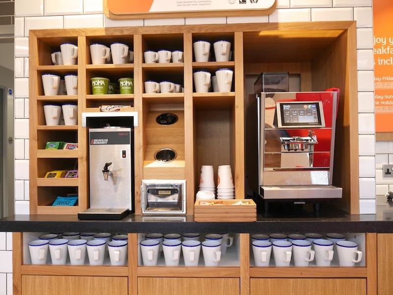 Tea and coffee station at Holiday Inn Express Ealing