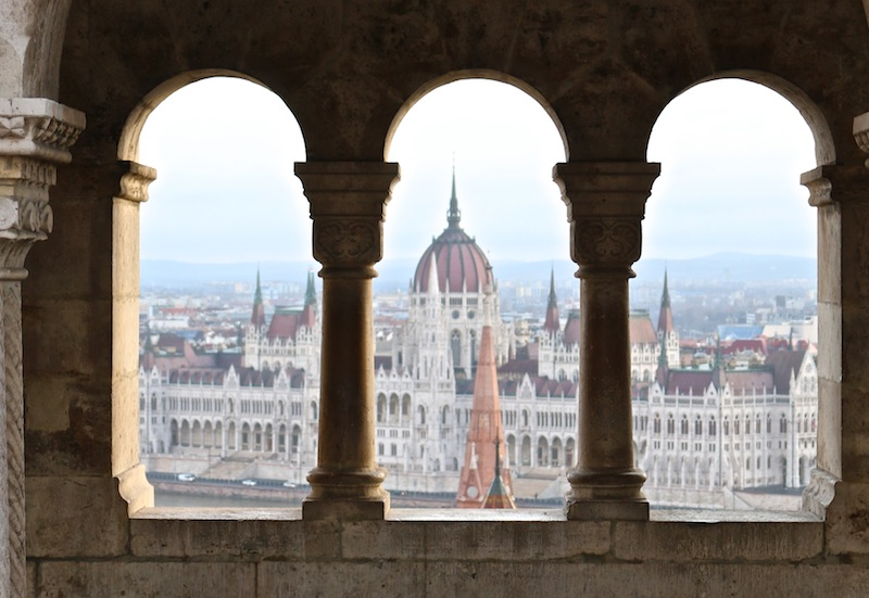 Views to Parliament from Fishermen's Bastion