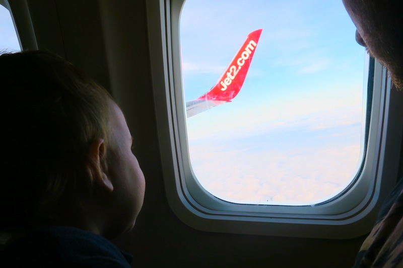 Baby flying with jet2