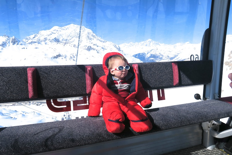 Baby in Tignes