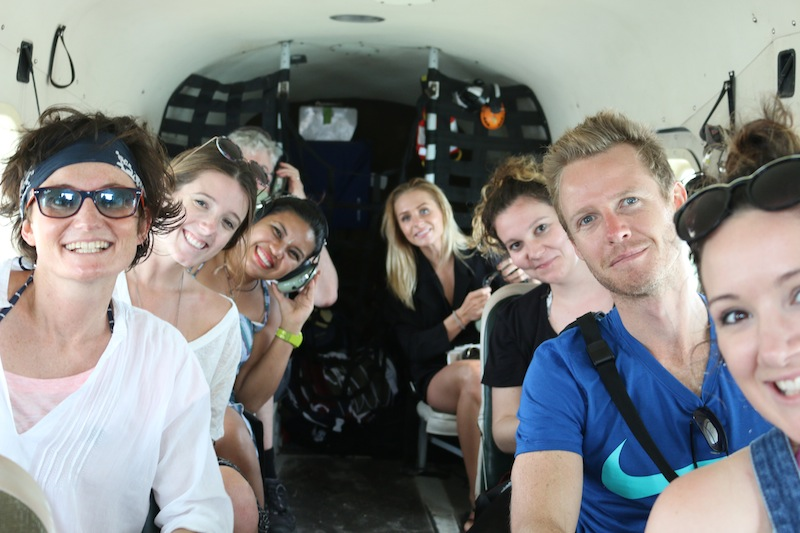Bloggers on a seaplane to the Dry Tortugas