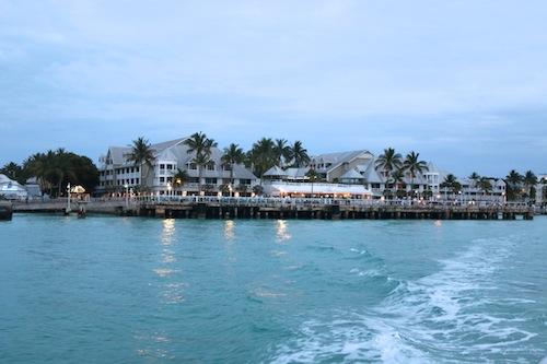 Boat ride to Latitudes Restaurant, Key West