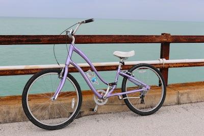 Cycling along 7 mile bridge Florida Keys