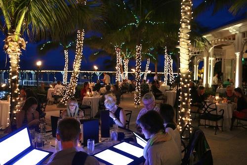 Latitudes Restaurant, Key West. - illuminated menus
