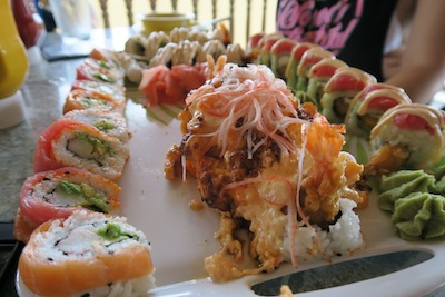 Sushi at Sunset Grille