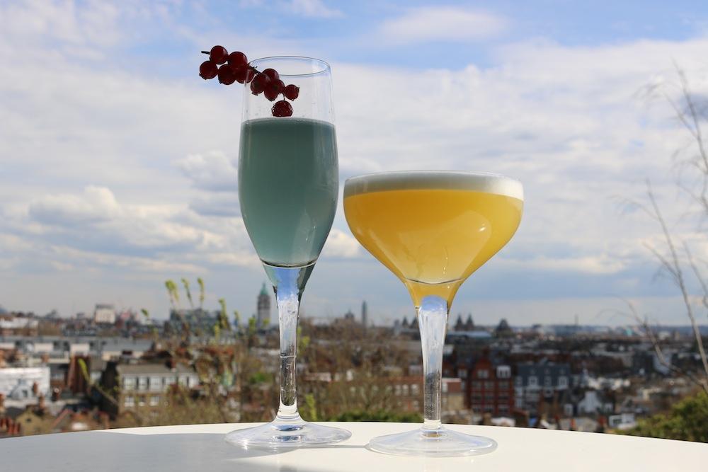 Cocktails at Kensington Roof Gardens