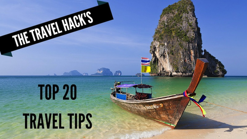 My top 20 travel tips ever