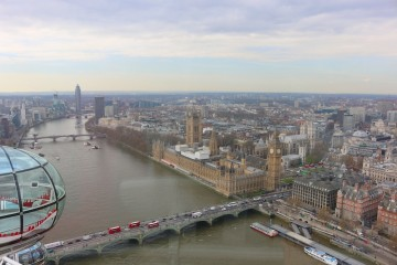 Views from The London Eye on The Travel Hack