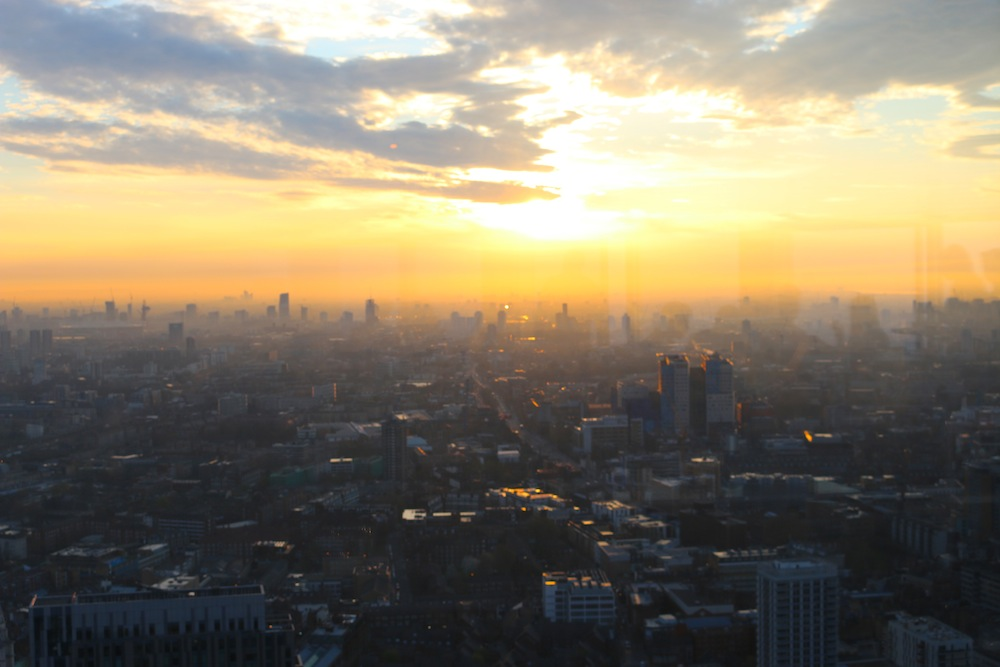 views from Duck and Waffle, London