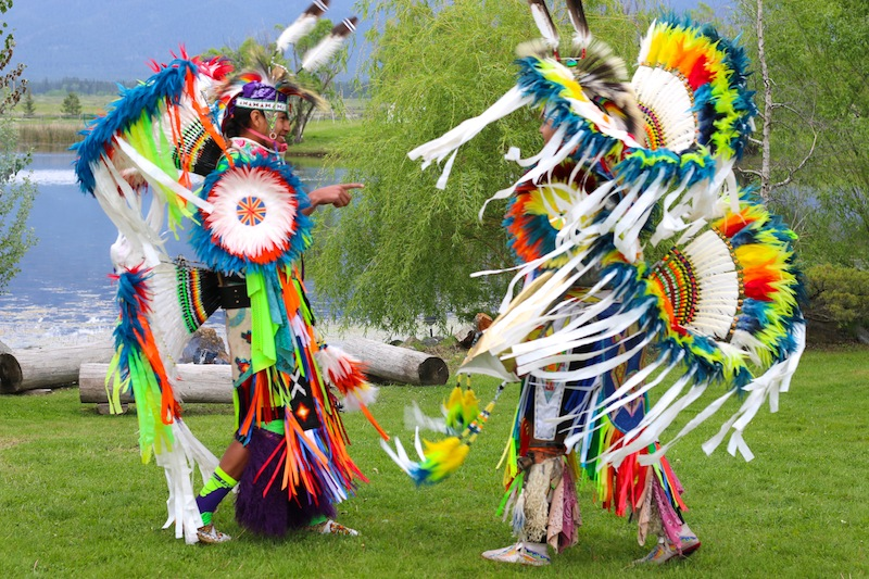 American Indian dancers at the Ninepipes Lodge in Charlo