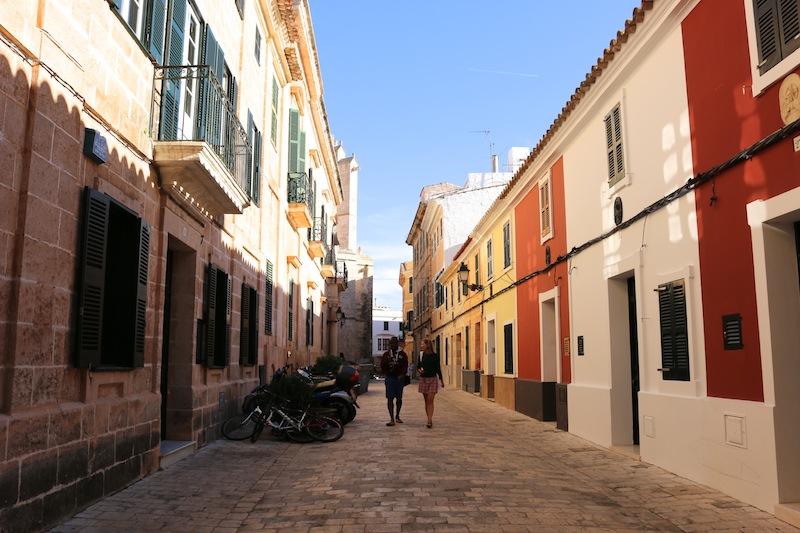 Ciutadella colourful streets in Menorca