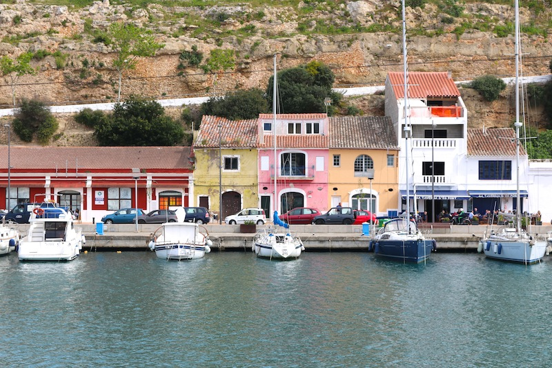 Colourful buildings around Mahon Harbour