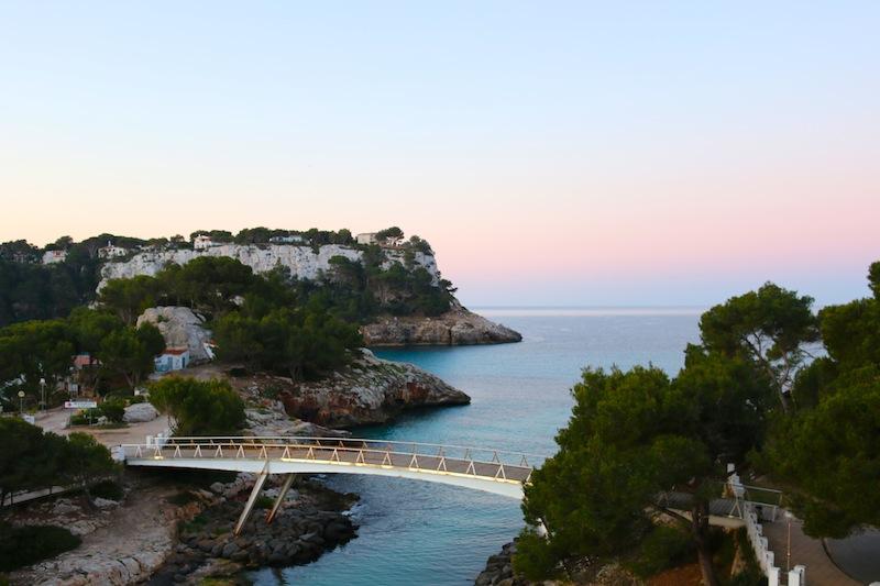 Sunrise in Menorca from hotel Audax