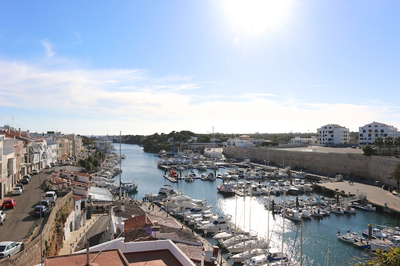 Views over boats at Ciutadella, Menorca