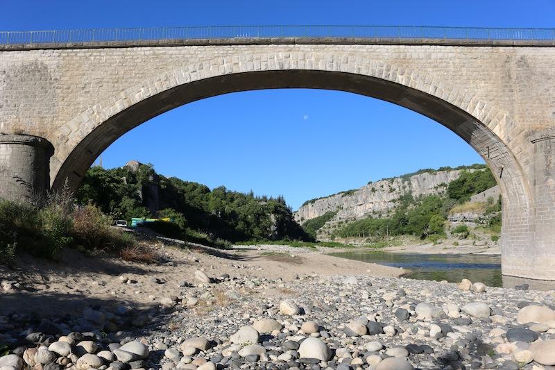 Bridge in Balazuc, Southern France