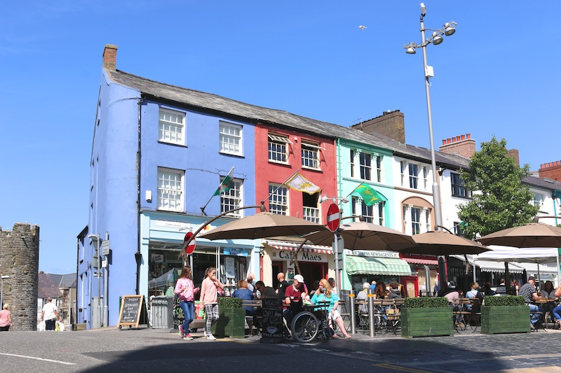 Colourful buildings in caernarfon