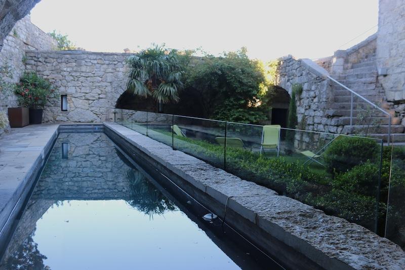 Lap pool at Chateau de Balazuc