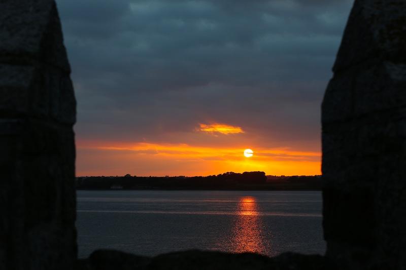 Sunset from Caernarfon Walls