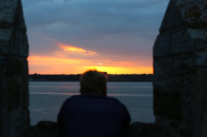 Sunset from the Bath Tower, Caernarfon