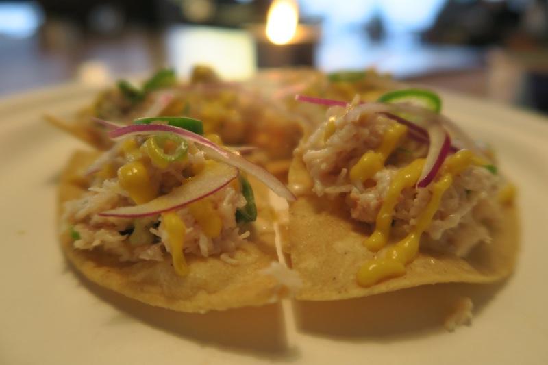 Crab tacos at Notch London