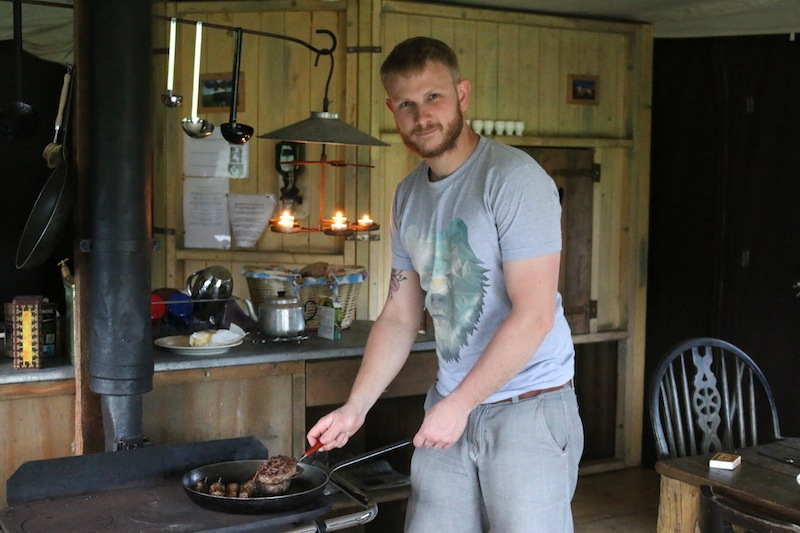 Featherdown Glamping in Lancaster - cooking