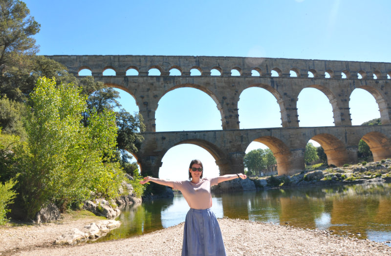 Pont du Gard and canoeing on the Gardon River