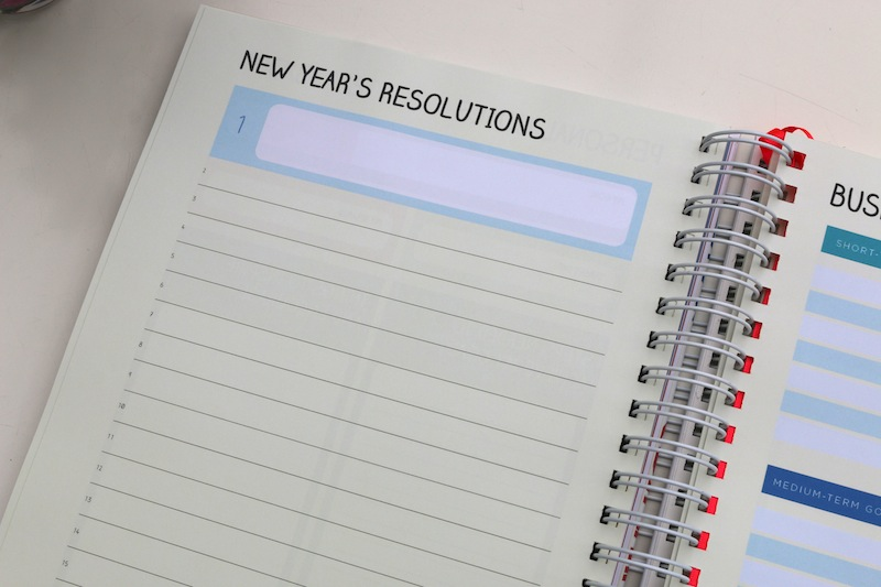 Unique Planners by Pirongs - New Year's resolutions
