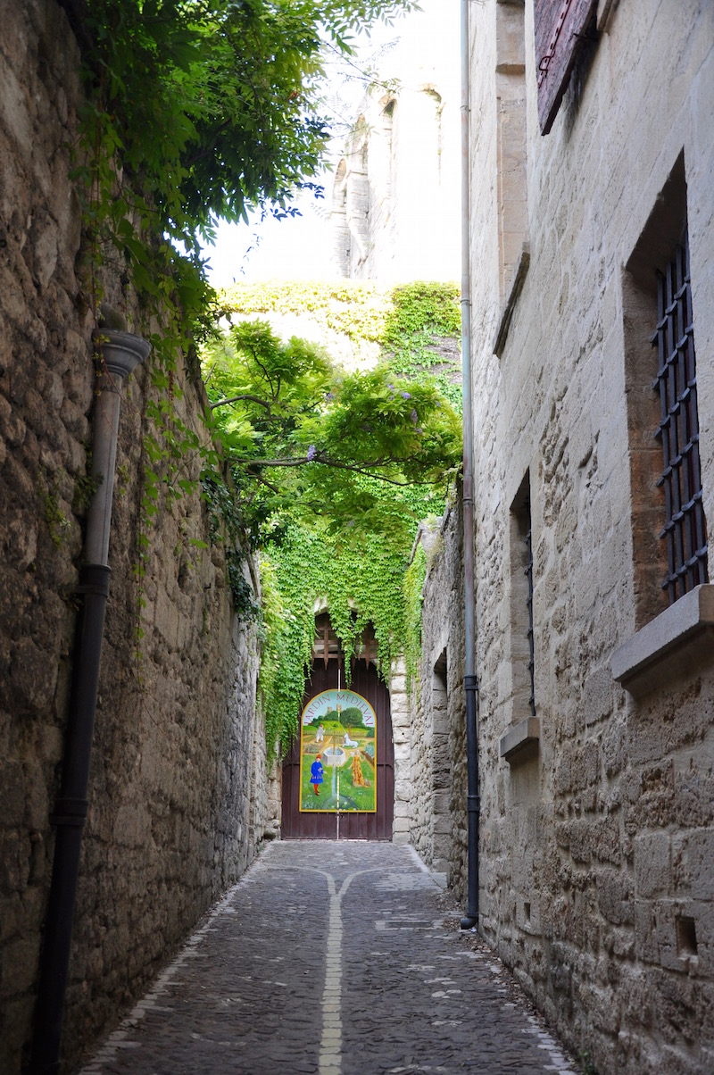 Green Alleyway Uzes France