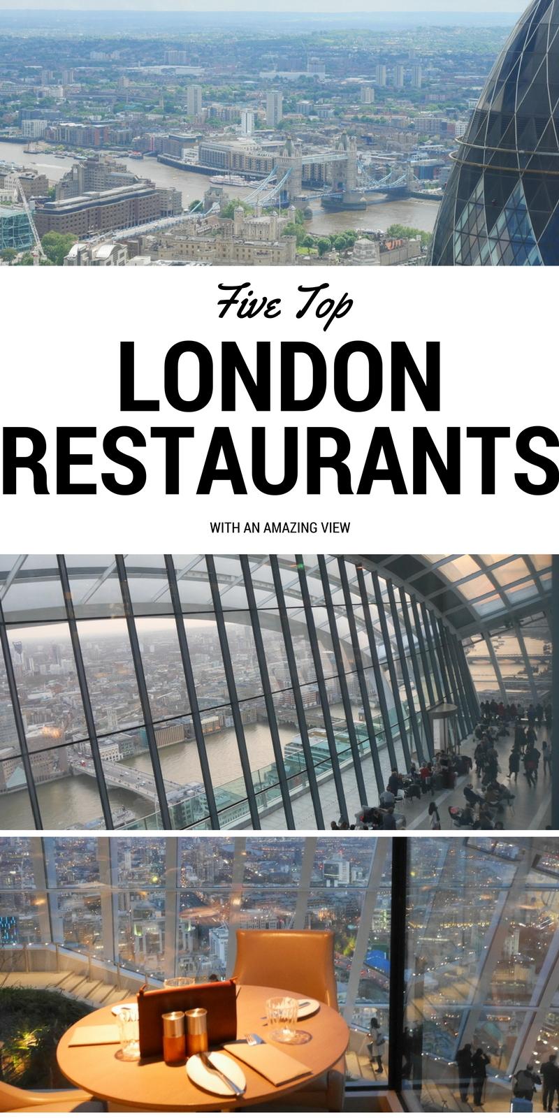 Top London Restaurants, Restaurants with a view