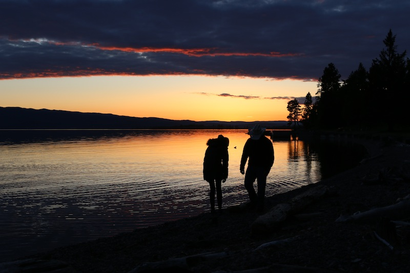 sunset-at-flathead-lake-lodge