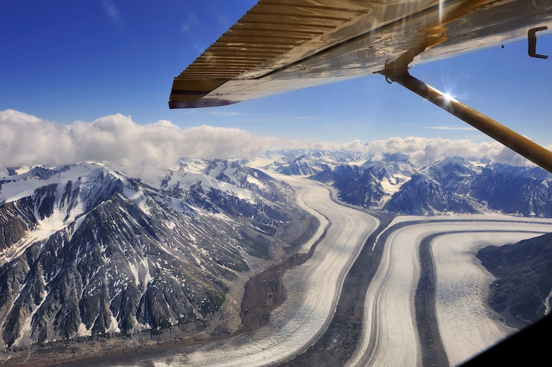 aerial view, Kluane National Park, flightseeing, Kaskawulsh Glacier