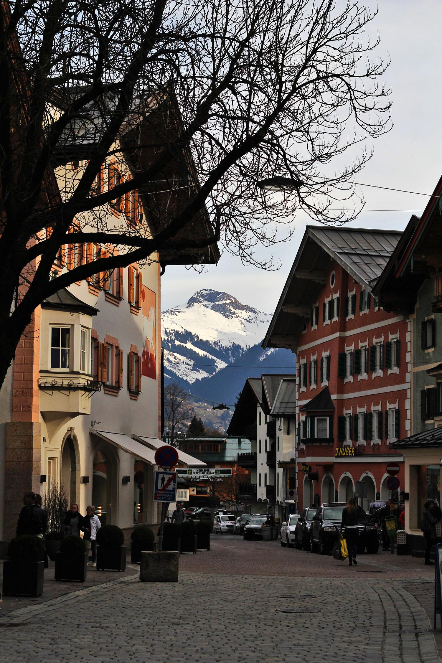 beautiful ski town