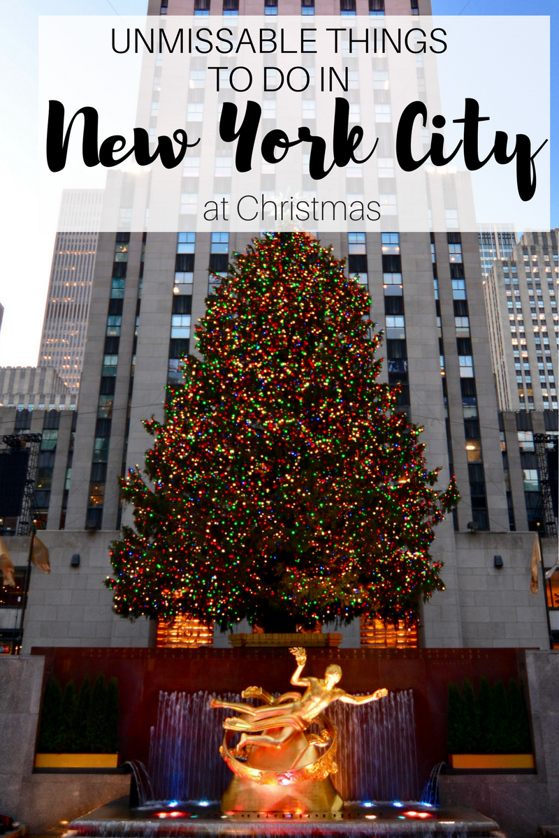If you're planning a festive break to New York, here are some things you can't miss…