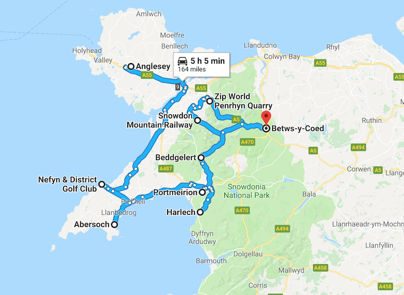 1 week itinerary in North Wales